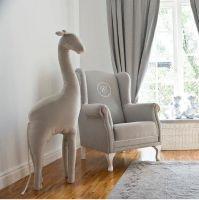 Dekorative Kuschel-Giraffe grau - 125cm hoch - GREYLINE