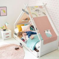 Cool Kids Einzelbett mit Tipi UNICORN