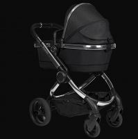 I Candy New Peach Kinderwagen Chrome Black Twill