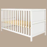Flexa Babybett LUNA, 70x140cm, weiß, glatt