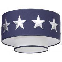 Deckenleuchte/Deckenlampe Sternen Silber