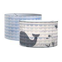 Hängelampe / Kinderlampe SILHOUETTE BLUE WAVES Durchmesser 30cm