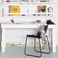 Kinderwandregal / Wandregal / Bilderleiste SHELVING weiß, Massivholz, 150x25x15cm