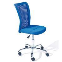 Kinder-Schreibtischstuhl DENNIS, stufenlos höhenverstellbar, MESH, blau