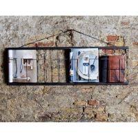 Magazinhalter Zeitungsständer NEO für 4 Karten, Metall, schwarz, 4x DIN A4