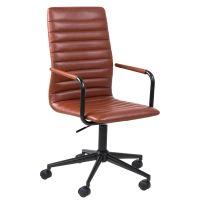 Schreibtischstuhl / Drehstuhl WIN, Vintage, braun-schwarz