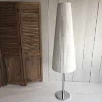 Designklassiker Stehlampe / Jugendlampe ROYCE, Plissee weiß, Höhe: 175cm