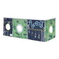 Manis-h Spielvorhang ROBOT, 197x87x77cm, grün - antrazith