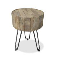 Nachttisch LAGOS Beistelltisch Teak Holz Industrial Look Höhe 46cm