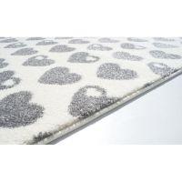 Kinderteppich byGraziela Design HERZEN weiss/silbergrau 120x180cm