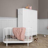 Oliver Furniture Kleiderschrank WOOD COLLECTION, 3-türig, weiß