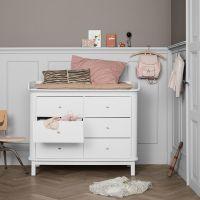 Oliver Furniture Wickelkommode WOOD COLLECTION mit großer Wickelplatte und 6 Schubladen, weiß