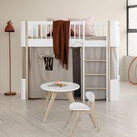 Oliver Furniture WOOD MINI+ halbhohes Hochbett Weiss-Eiche Höhe: 132cm