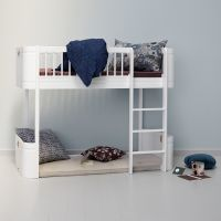 Oliver Furniture WOOD MINI+ halbhohes Hochbett Weiss Höhe: 132cm