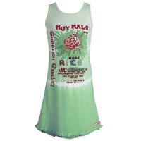 Muy Malo Kinder Sommerkleid / Kleid mit Rose, Batik, grün, Größe 116