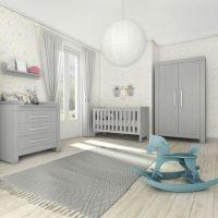 komplettes Babyzimmer CARLA, 4 teilig, grau
