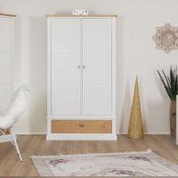 Smart Line 2 türiger Kleiderschrank mit Schublade, weiß/eiche