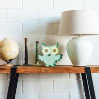 Wandlampe Kinderlampe Marquee Lights OWL grün
