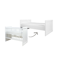 BOPITA Babybett BABYFLEX, Kombi-Umbaubett, weiß, 60x120/90x160