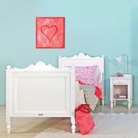 BOPITA Mädchenbett / Kinderbett BELLE, 90x200cm, weiß