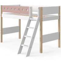 Flexa White mittelhohes Bett mit Schrägleiter 90 x 200 cm Höhe: 143 cm, verschiedene Farben