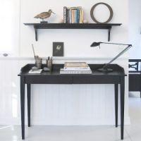 Oliver Furniture Konsolentisch / Schreibtisch mit 2 Schubladen, schwarz, 120x46cm