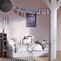 Jugendbett BUNKY mit Regal + Gästebett, Holz Kiefer, grau, 90 x 200 cm