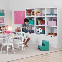 Asoral Bücheregal / Kinderregal COMETA , Massivholz, 20 Farben zur Auswahl