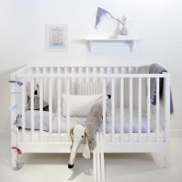 Oliver Furniture Babybett / Gitterbett / Kinderbett KIDS, weiß, 70x140cm