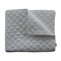 Weiße Zweiseitige Steppdecke,  Bettüberwurf, Tagesdecke  / Plaid White  100% Baumwolle, 125x210cm
