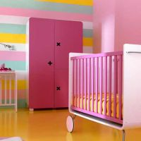 BE Moderner Kinderkleiderschrank / Schrank TALL, 3türig, 181x107x60cm
