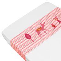 Überschlaglaken Wiege ROSA REH, rosa, 100% Baumwolle,100 x 80cm