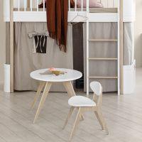 Oliver Furniture WOOD MINI+ Bett-Vorhang Natur für halbhohes Hochbett