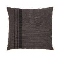 Bodenkissen / Sitzkissen CORSA, grau gestreift, Baumwolle, 100x100cm