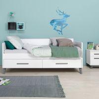 Bopita Kinder-Tagesbett LEVI 90 x 200 cm weiß grey-wash
