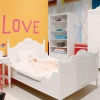 Bopita Jugendbett Doppelbett ROMANTIC, 120 x 200 cm, weiß