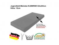 Kindermatratze / Matratze ELBBRISE für Hochbetten, 120x200cm, Höhe: 12cm