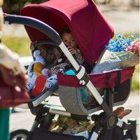 BUGABOO Kinderwagen DONKEY² MONO, Gestell ALU, Sitz+Wanne GRAU MELIERT