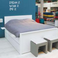 Bopita Jugendbett Doppelbett ALFA weiß 140 x 200 cm