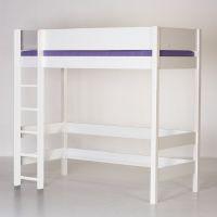 Manis-h Hochbett GEFION mit 2 Betten, 90x200cm, Höhe: 192cm, weiß