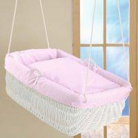 Komlpettset - Baby Hängekorb GABRIEL mit Komfort-Maratze und textiler Ausstattung