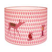 Lampenschirm ROSA REH hart, für Hängeleuchten, rosa, 35cm