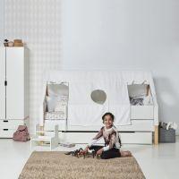 Manis-h Kinderbett ODIN mit Rausfallschutz + Himmel-Zelt SKY