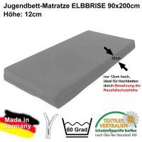 Kindermatratze / Matratze ELBBRISE für Hochbetten, 90x200cm, Höhe: 12cm