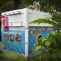 LIFETIME Garderobe / Hakenleiste für Hochbett, weiß, 4 runde Haken, 64x10cm
