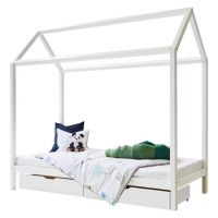 Kinderbett / Hausbett BASIC House Bed, 90x200cm, weiß