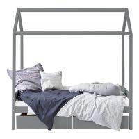 Kinderbett / Hausbett IDA-MARIE, 70x160cm, grau