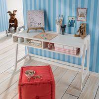 Kinderschreibtisch / Schreibtisch REBEKKA, höhenverstellbar, weiß