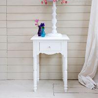 Opsetims Nachttisch JALOU, Massivholz, 60x45x34cm, weiß