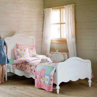 Opsetims Jugendbett / Kinderbett JIP Massivholz Kiefer weiß 90 x 200 cm